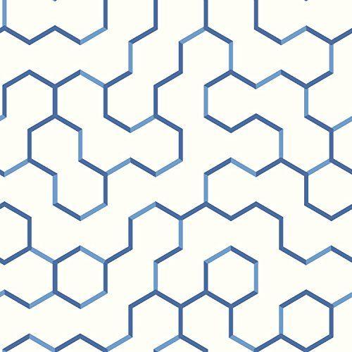 Roommates Rmk9093rl Blue Open Geometric Peel And Stick Wa Https Www Amazon Com Dp B01n6pmmah Peel And Stick Wallpaper Vinyl Wallpaper Geometric Wallpaper