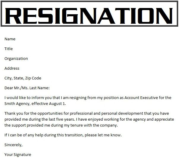 Resignation letter Surat Pengunduran Diri Pengertian Struktur