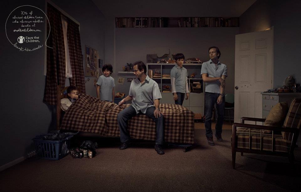 70% of abused children turn into abusive adults. Impresionante lo nuevo de Y Mexico para Save the Children
