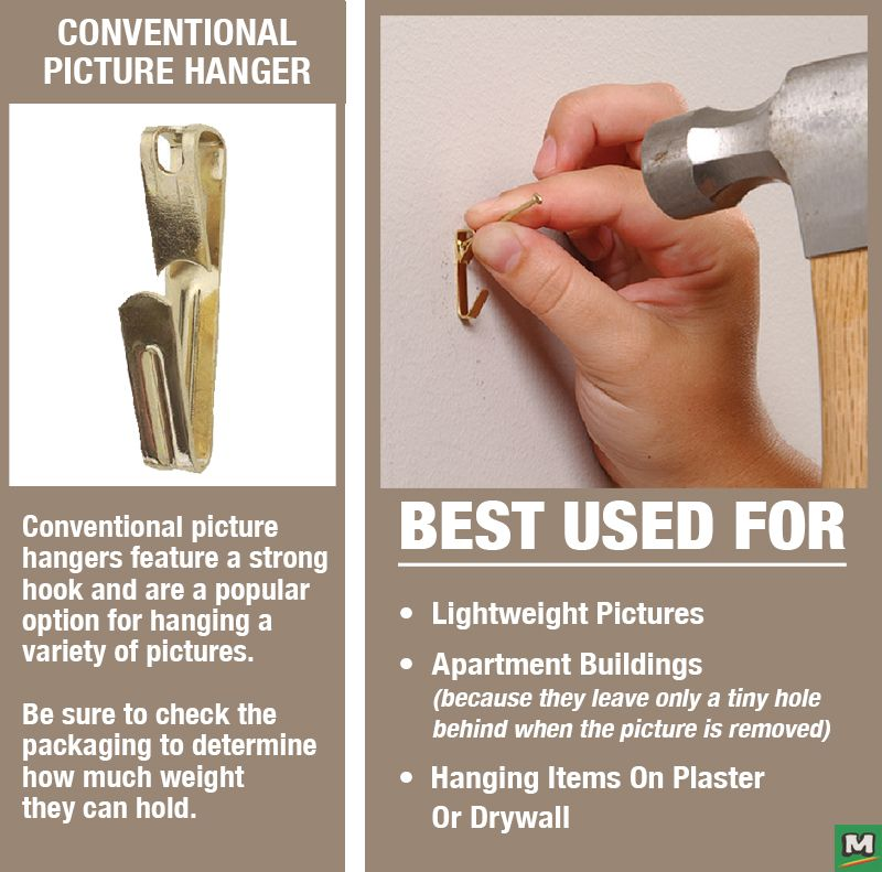 The Ook Conventional Picture Hooks Helps You Hang Art Work Around Your Home Or Office Gently Hammer The Nail Thro Picture Hangers Hanging Mirror Plaster Walls