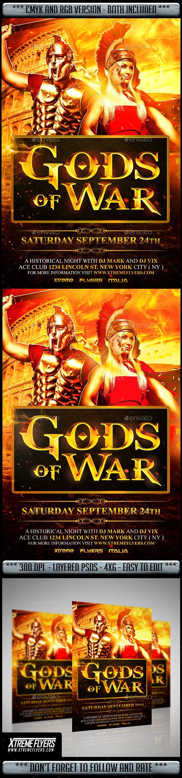 Gods Of War Flyer Template Flyer Template Flyer God Of War