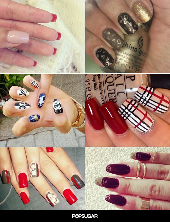 This nail art will let you pay homage to your favorite designers without paying big bucks. #nailart