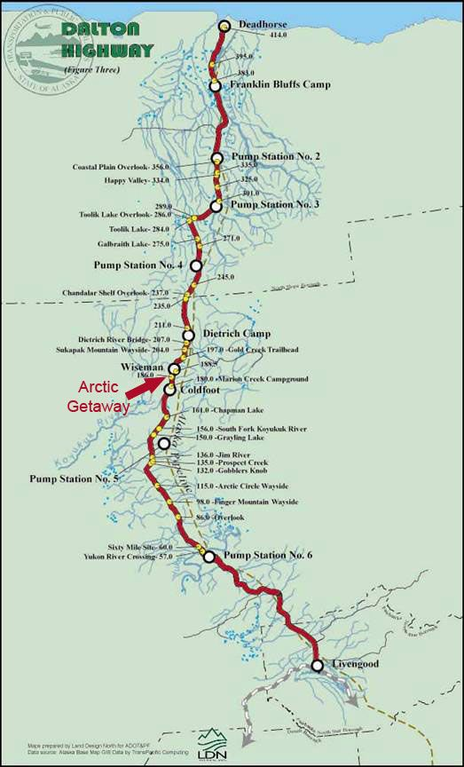 Arctic Circle, Dalton Highway, Alaska with Ginnann and Christy