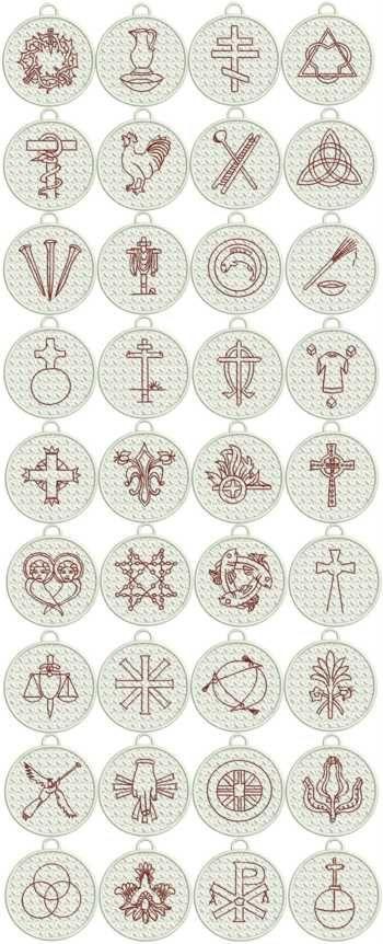 Advanced Embroidery Designs - FSL Christian Symbol (Chrismon) Ornaments