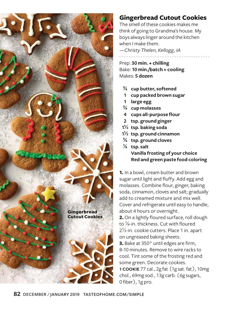 Recipe From Taste Of Home Magazine Dec 2018 Jan 2019 Issue