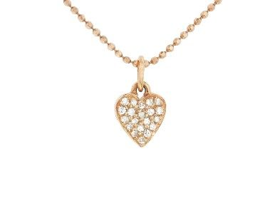 Diamond Heart Necklace - Rose Gold