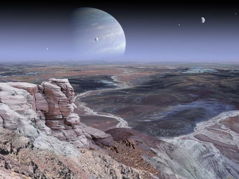 extrasolar planets art | Extra-solar Planet art | Alien ...