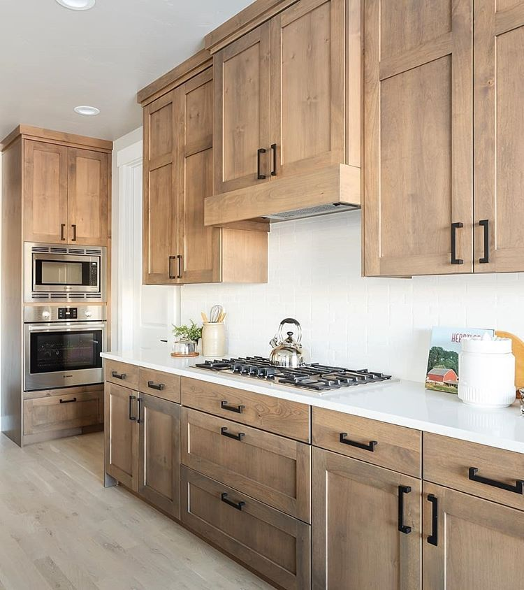 Some People Just Have A Design Eye The U Turn Pull In Matte Black Looks Sensational Against The Natural In 2020 Home Decor Kitchen Kitchen Design Kitchen Inspirations