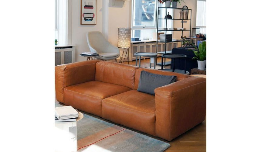 Mags sohva, nahka verhoilu