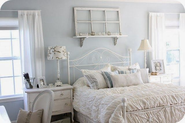 cottageshebbybedroom Camera da letto shabby chic