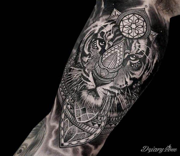 Tygrys Na Ręce Autor Coen Mitchell Tatuaże Dziarycom