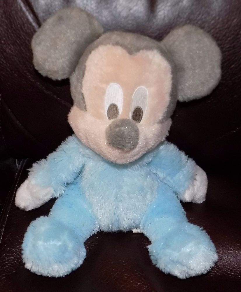 Disney Parks Mickey Mouse Plush Baby Rattle