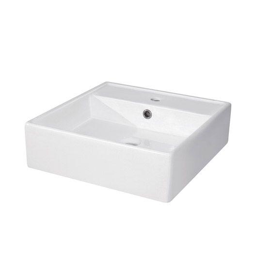 Vasque A Poser Edge En Ceramique 46 X 46 Cm Vasque A Poser Vasque Plan Vasque