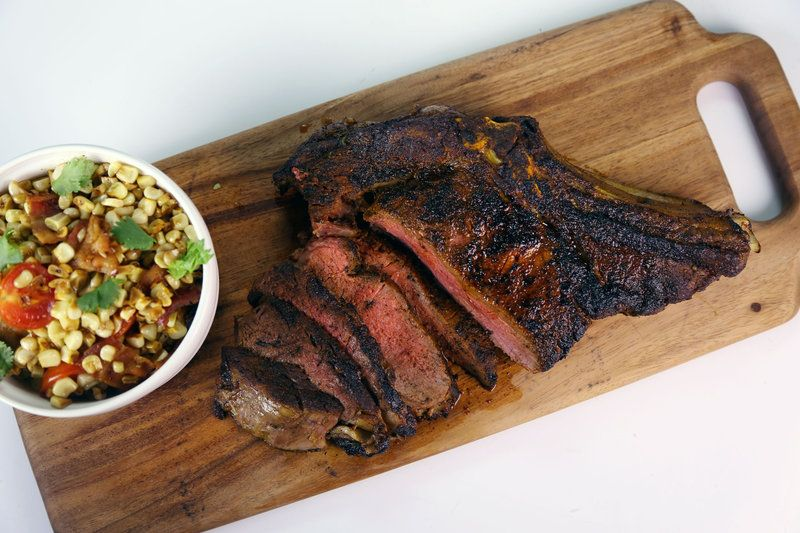 Pan roasted rib eye michael symon the chew recipes