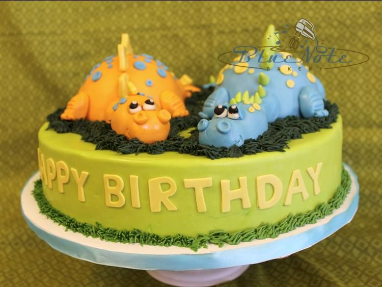 Dino Twins Blue Note Bakery Austin Texas Kids Birthday
