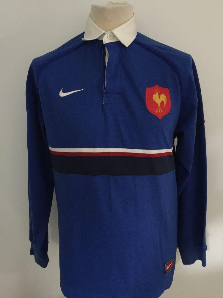0da82b13d Vintage FRANCE Rugby Shirt NIKE LONG SLEEVE Size S SMALL   eBay ...