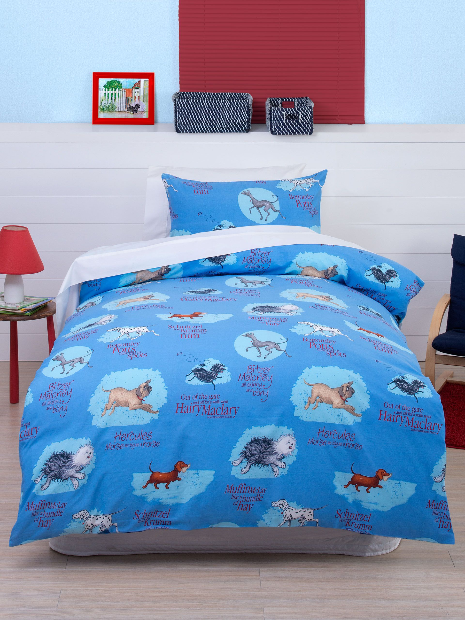 Hairy Maclary And Friends Duvet Cover Set from Linen House