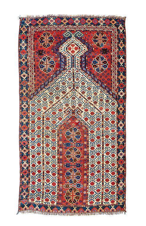 Beshir prayer rug Turkmenistan, mid 19th century 5ft. 3in. x 2ft. 11in.