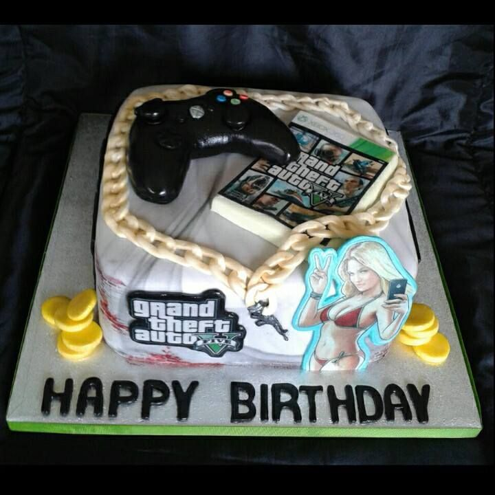 Gateau Gta 5 Recherche Google With Images Playstation Cake
