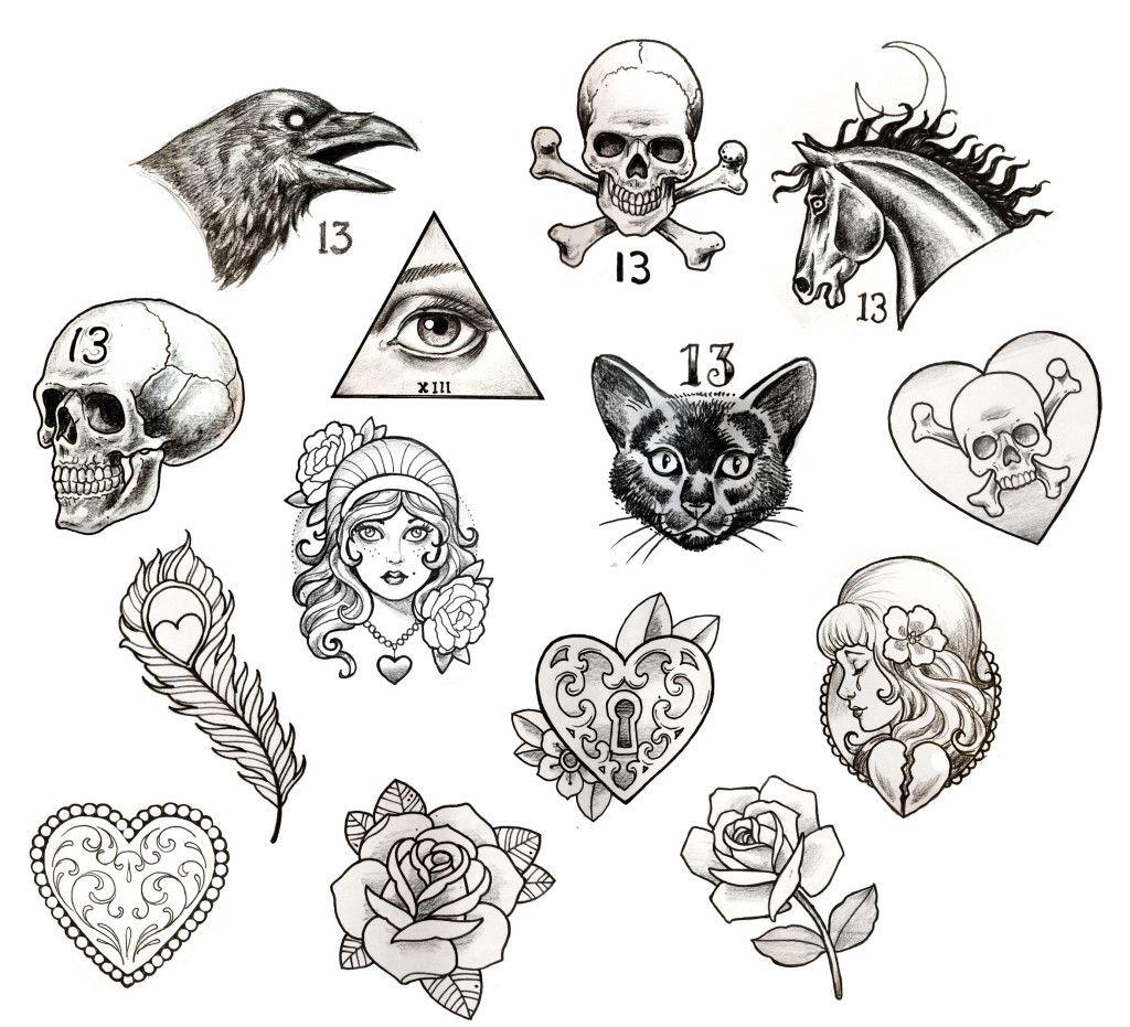 Татуировки не цветные картинки