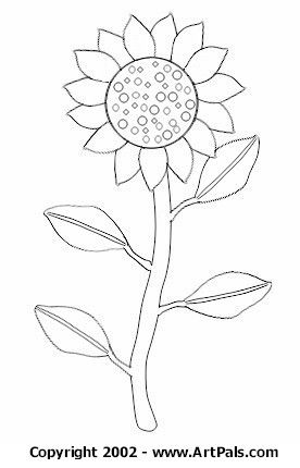 sunflower-coloring-pages-2 | Science | Pinterest | Sunflowers, Hand ...