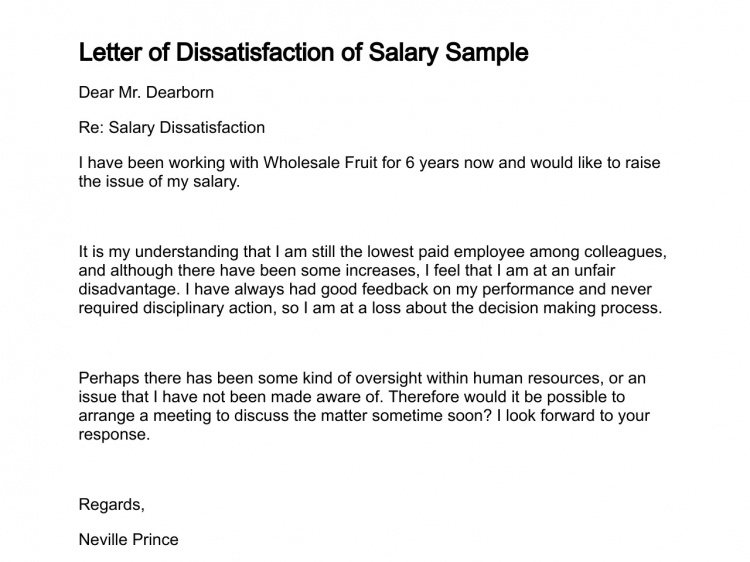Letter Dissatisfaction Salary Sample Cover Template Tattoo Example