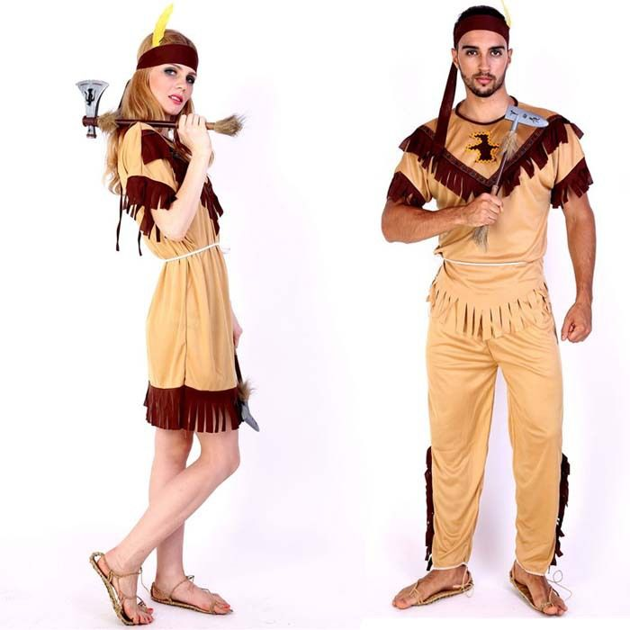 native american costume wild west adult women men indian halloween fancy dress - Native American Costume Halloween