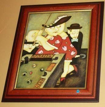 Vintage Billiards Pool Table Wall Art Framed By EarthsBizarre