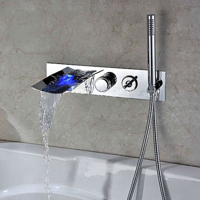 Fantasy Wall Mounted Bathtub Faucet With Hand Shower Baril With