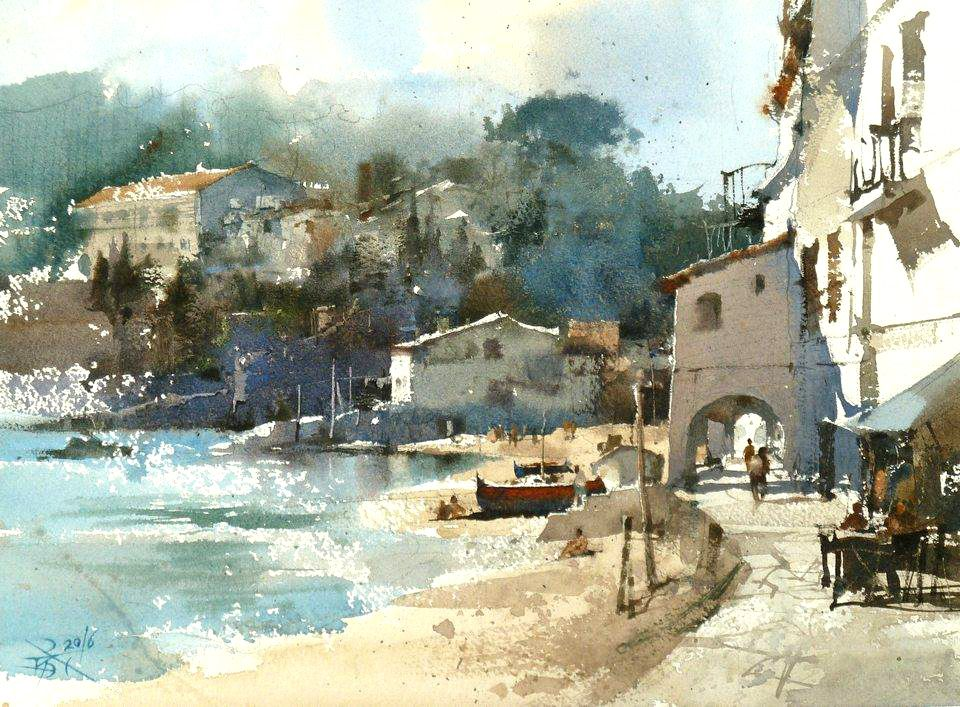 Plein air and demo by Chien Chung Wei's Workshop , Girona 2016