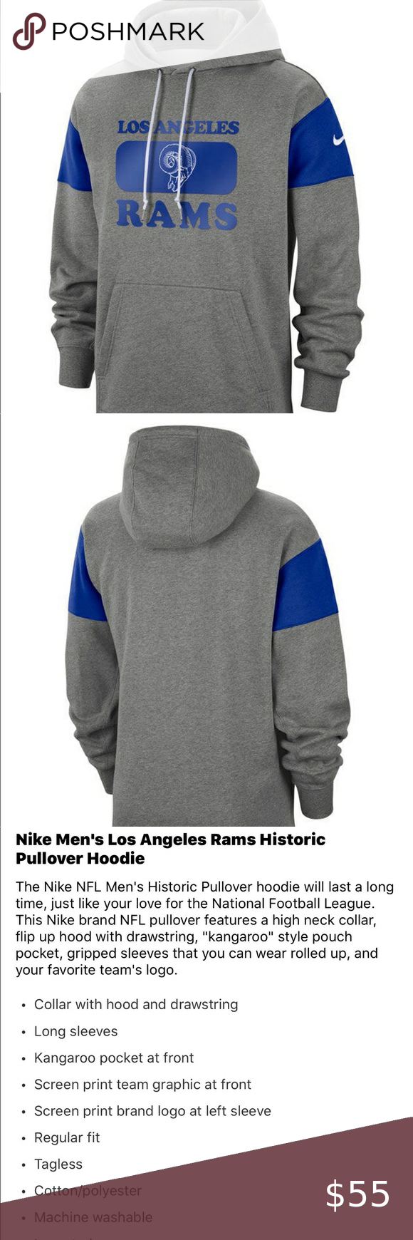 Los Angeles Rams Victory Nike Hoodie Nike Hoodie Hoodies Nike Sweater [ 1740 x 580 Pixel ]