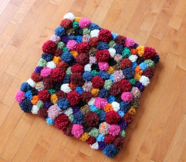 DIY Wohnideen   Sie Suchen Nach Einem Schönen Teppich,doch Sie Finden  Keinen, Der Ihnen Gut Gefällt? Basteln Sie Diesen Einfach Selbst! Schön,  Bunt Und .