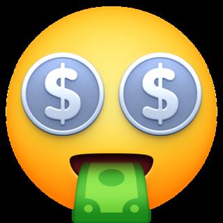 Money Mouth Face Emoji On Facebook 4 0 In 2020 Emoji Emoji Images Face