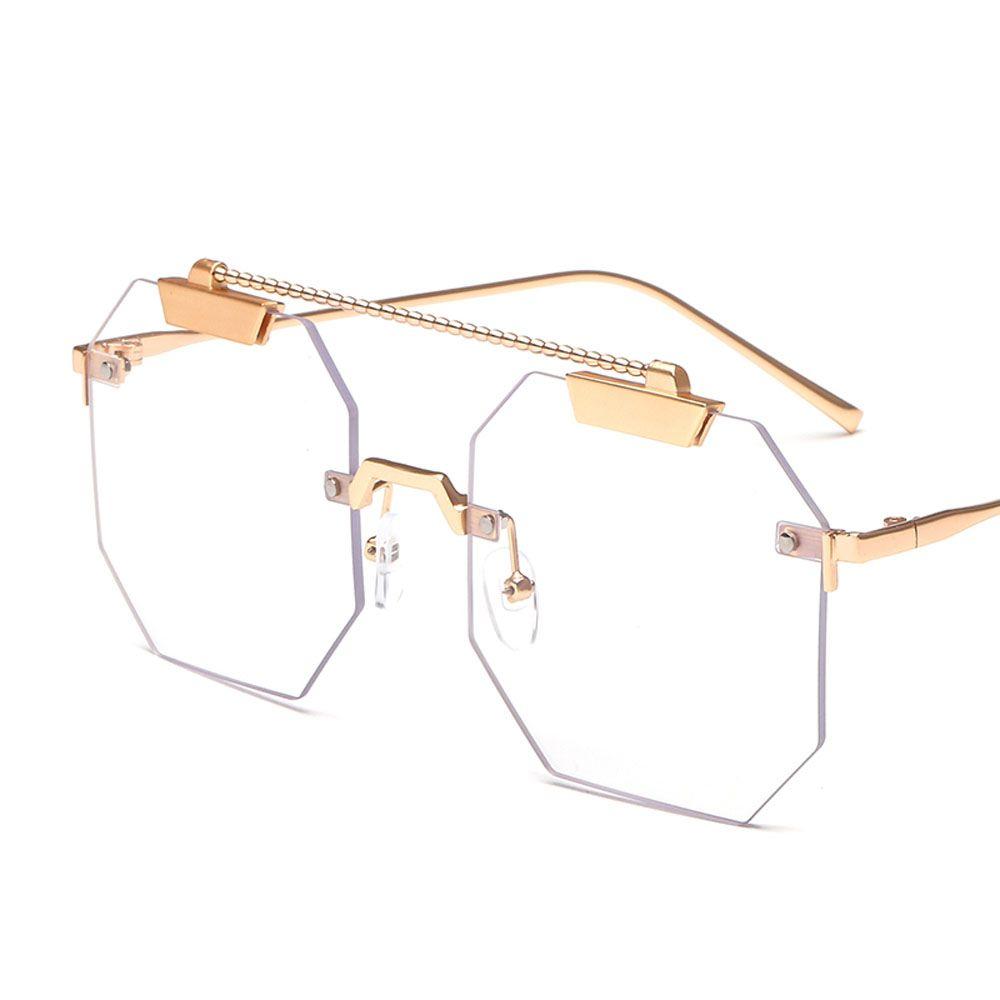 6e4b4b9a1b  7.99 Peekaboo men square eyeglasses frame women rimless 2019 vintage octagonal  glasses frames metal clear lens
