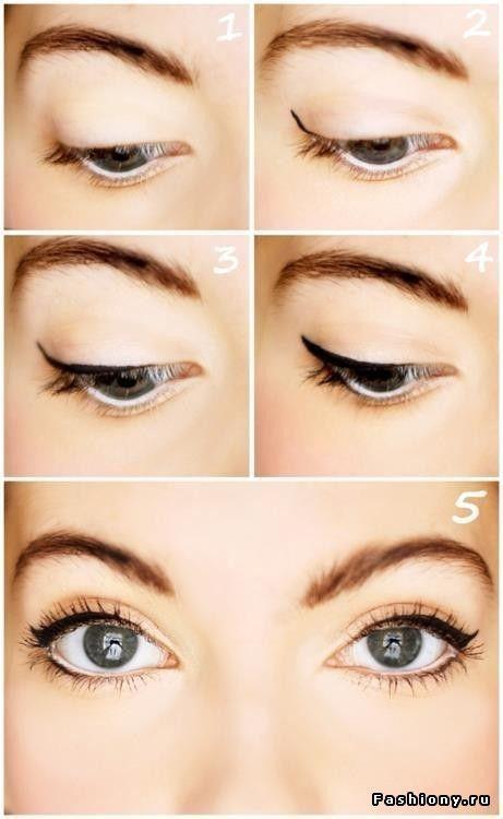 Фото-уроки макияжа / как красиво накрасить глаза фото ...