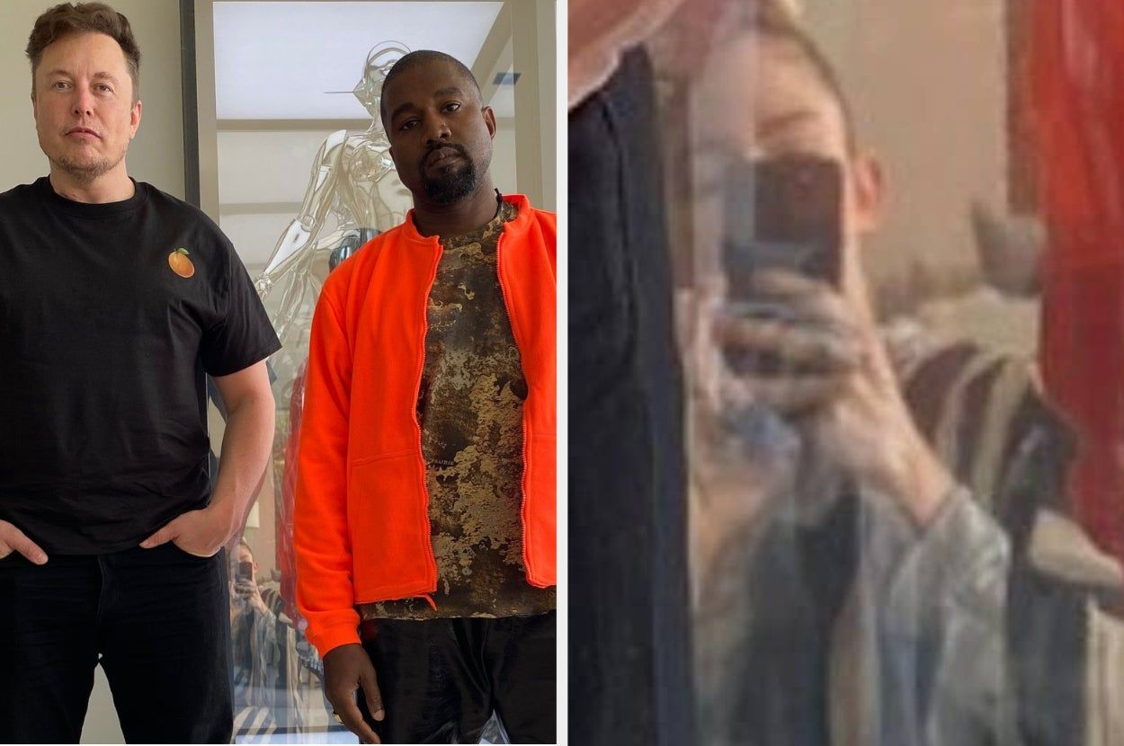 Grimes Took A Picture Of Kanye West And Elon Musk But People Can T Get Their Eyes Off Grimes Reflection In 2020 Grimes Kanye West Kanye