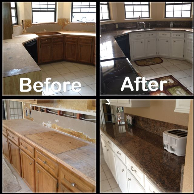 Key West Gold Granite Counter Tops.