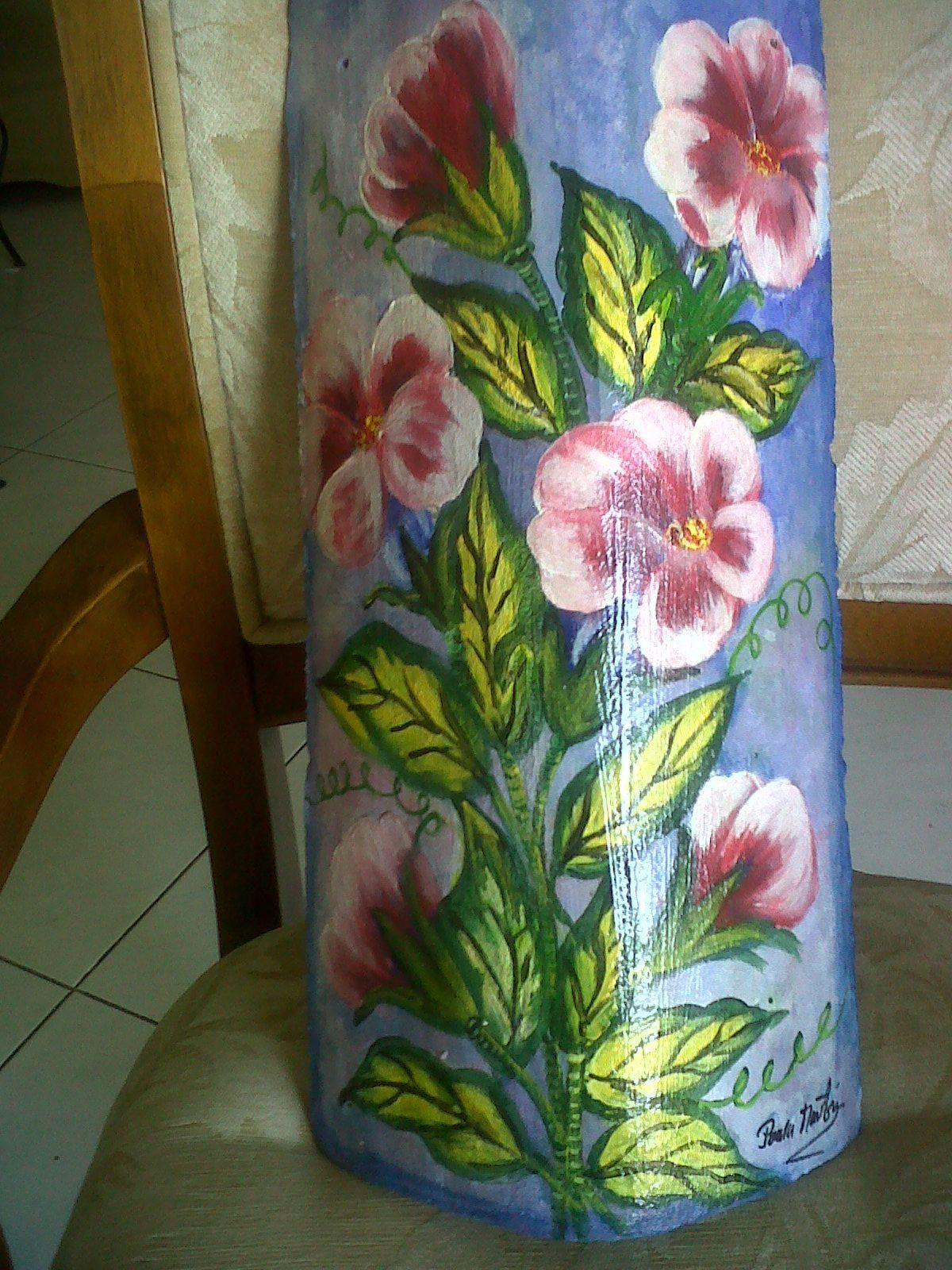 Teja pintada tejas teja ceramica pintar y tejidos - Pintar tejas de barro ...