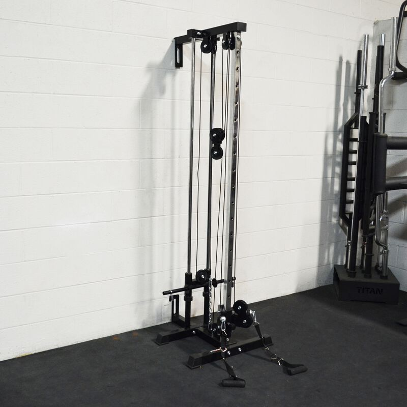 Pulley Tower Home Gym Garage Diy, Pulley System For Garage Gym