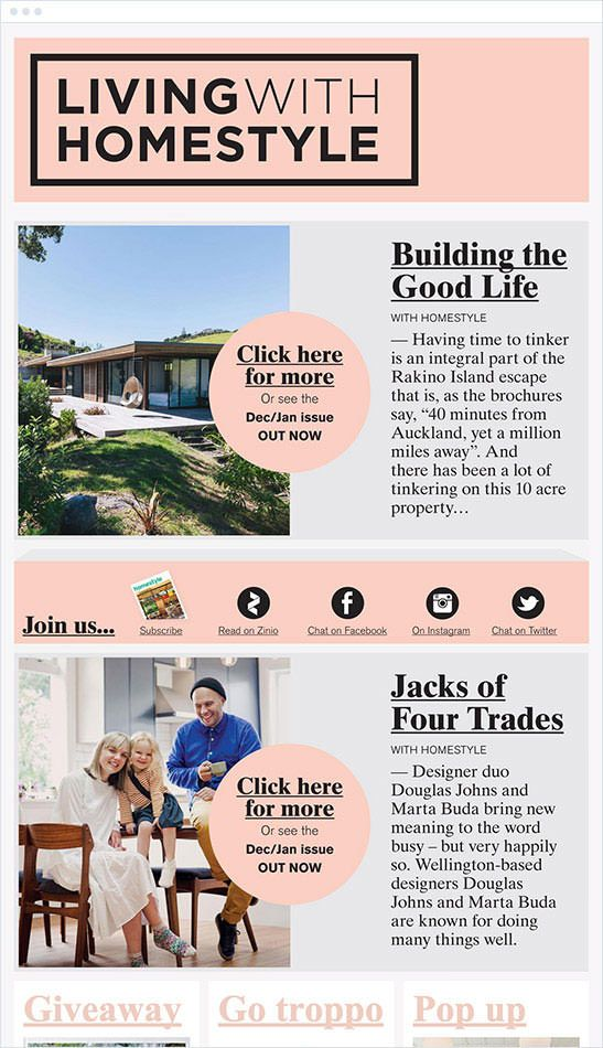 Homestyle Magazine Email Newsletter Making Money Online - free email newsletter templates word
