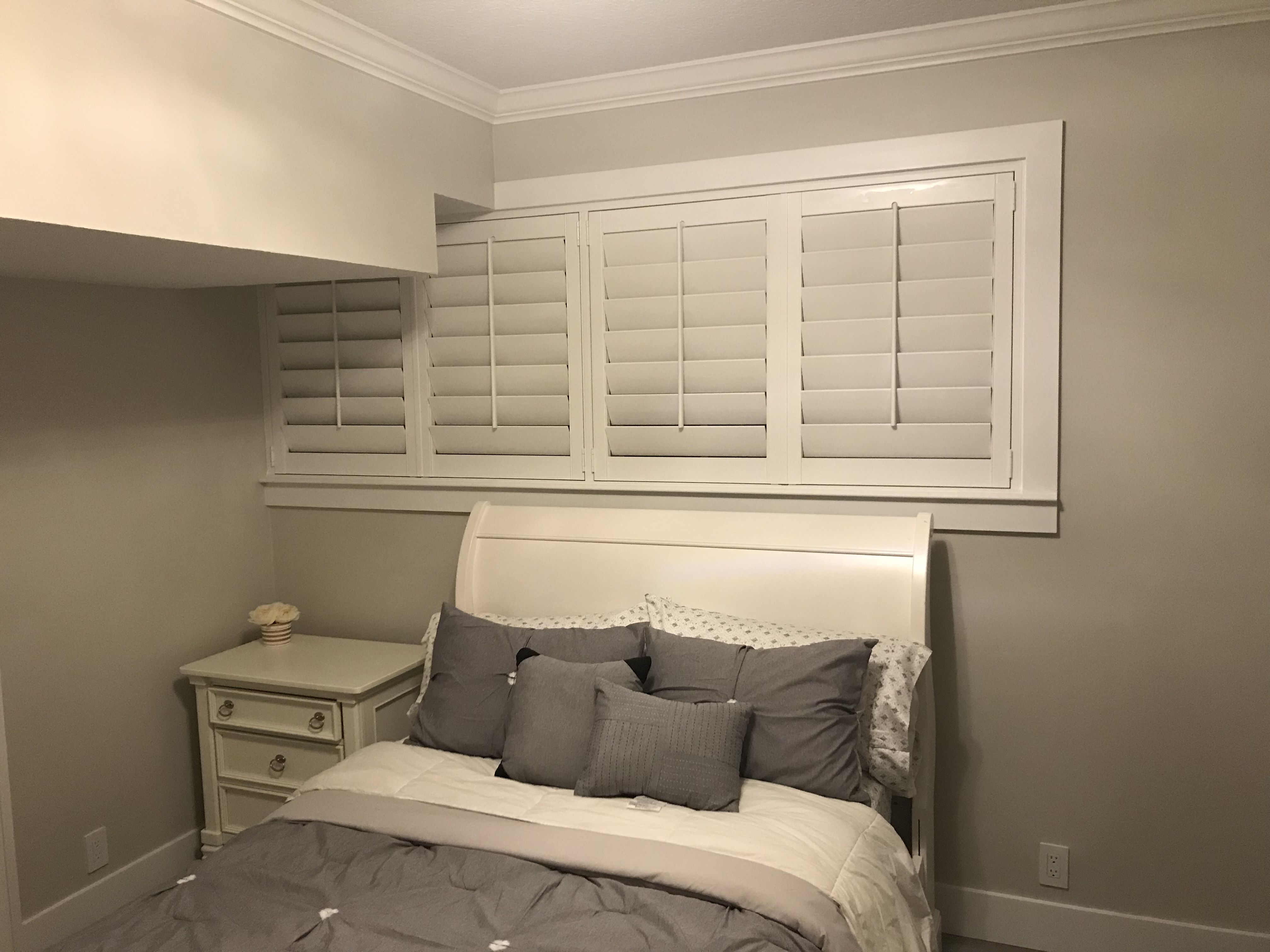 polywood 45 louvers with custom casing by elite decor miami