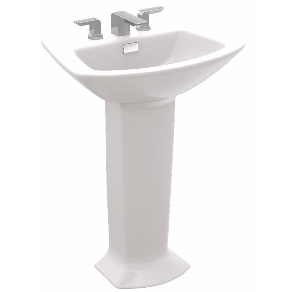 Toto Soiree 25 In Pedestal Combo Bathroom Sink With 8 In Faucet
