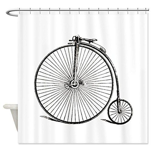 Cafepress Vintage Bike Shower Curtain Decorative Fabric Shower
