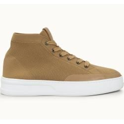 Tod's - Hohe Sneakers aus technischem Stoff und Leder, Beige, 10.5 - Shoes Tod's