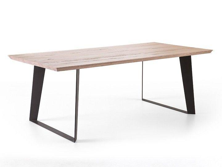 MCA Furniture Janek Esstisch Eiche Massiv Gekälkt 200x100cm