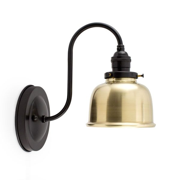 Brass Wall Sconce With Switch : Fargo Brass Wall Sconce, 997-Raw Brass, Mounting in 100-Black, No Switch Jemison Residence ...
