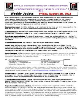 Weekly Update Newsletter Template  Weekly Newsletter Template