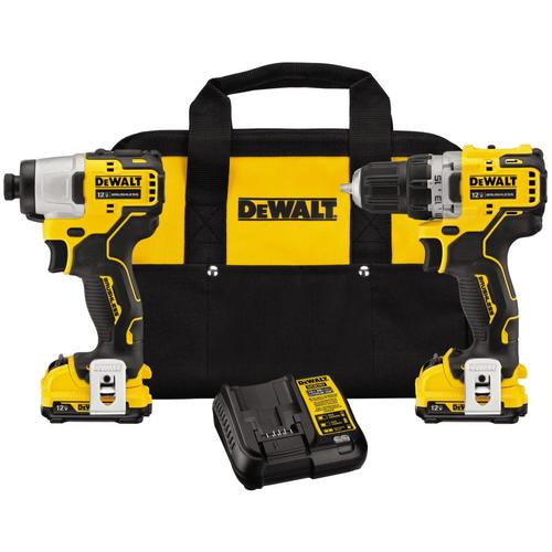 Dewalt Xtreme 2 Tool 12 Volt Max Brushless Power Tool Combo Kit With Soft Case Charger Included And 2 Batteries Included Lowes Com Combo Kit Dewalt Impact Driver