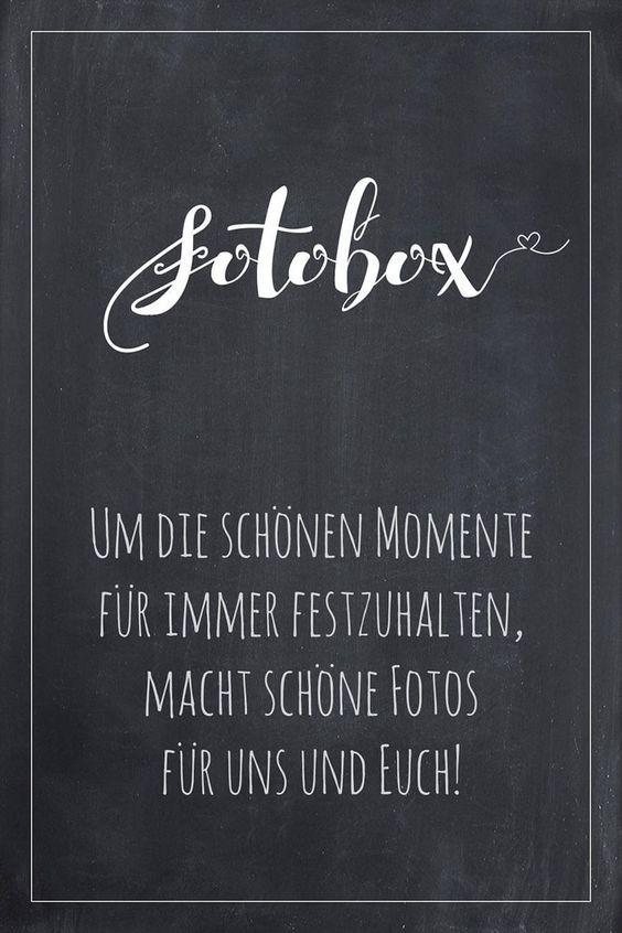 Fotobox Schild für Hochzeit im Tafel Look Finde bei uns viele