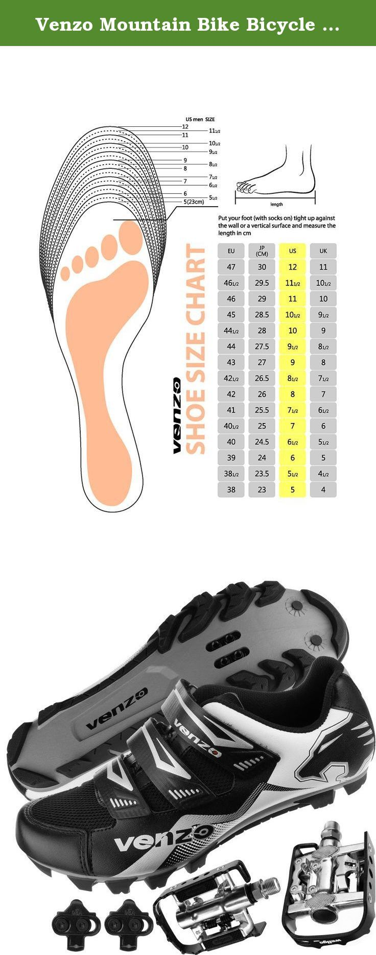 Venzo Mountain Bike Bicycle Cycling Shimano Spd Shoes Multi Use Pedals Size Chart Europe 40 Us Men 6 5 Japanese 24 Cycling Shoes Shoe Feature Shoe Jewelry